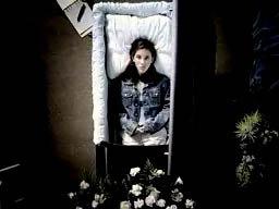 Girl in casket